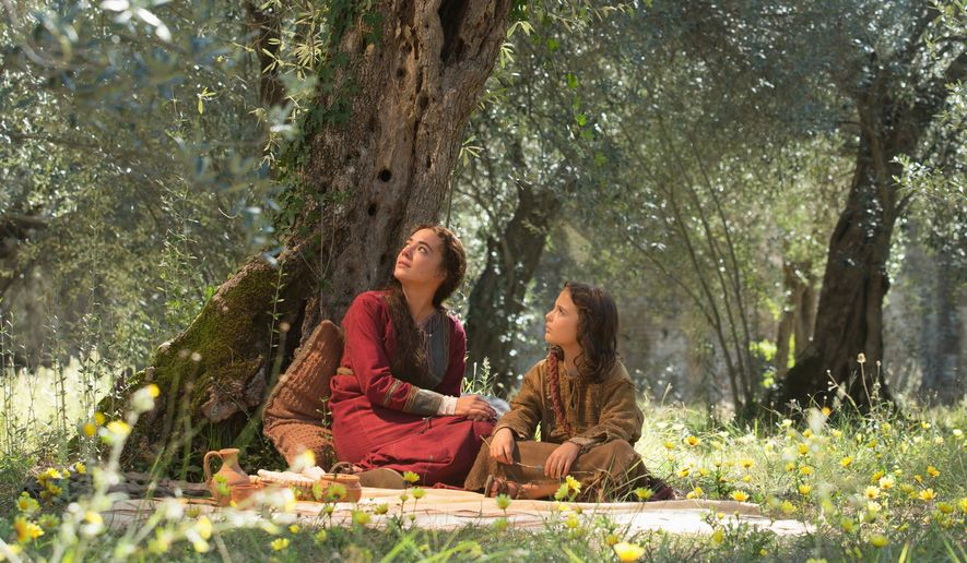 "A scene from the film ""The Young Messiah,"" by Focus Features. Adam Greaves-Neal as the young Jesus and Sara Lazzaro portrays his mother, the Virgin Mary. (Focus Features)"