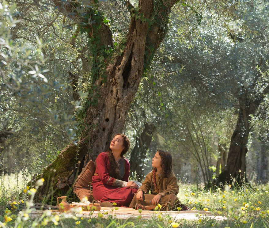 """A scene from the film """"The Young Messiah,"""" by Focus Features. Adam Greaves-Neal as the young Jesus and Sara Lazzaro portrays his mother, the Virgin Mary. (Focus Features)"""