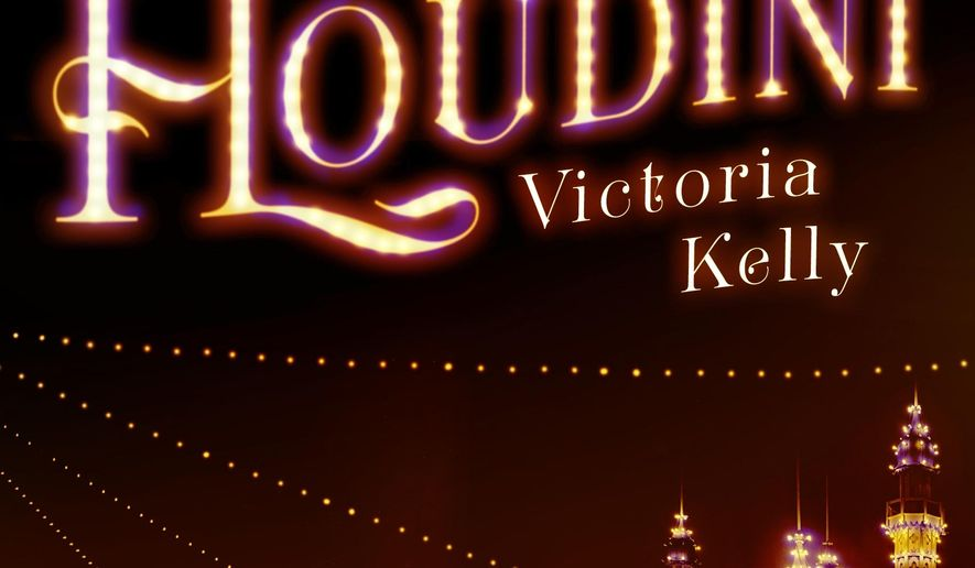 """This book cover image released by Atria shows, """"Mrs. Houdini,"""" a novel by Victoria Kelly. (Atria via AP)"""