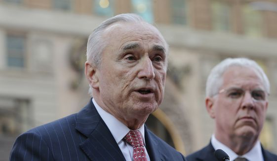 New York City Police Commissioner William Bratton speaks during a news conference in Times Square Tuesday, March 22, 2016, in New York. (AP Photo/Frank Franklin II) ** FILE **