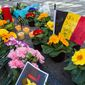 A memorial to the Belgian attack victims outside the stock exchange in Brussels. (Associated Press)
