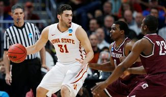 Iowa State forward Georges Niang scored 28 points in NCAA tournament victories over Iona and Arkansas-Little Rock, presenting Virginia with a defensive challenge in Friday's Midwest Regional Sweet 16 game. Niang is a 54.6 percent shooter. (Associated Press)