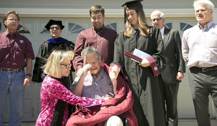 Texas A&M graduation ceremony relocated to dying man\'s home ...