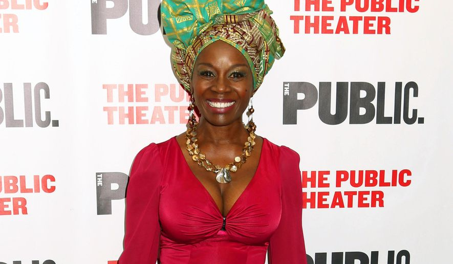 "FILE - In this Oct. 14, 2015 file photo, Akosua Busia attends the opening night celebration of ""Eclipsed"" at The Public Theater in New York. Busia, an actress and novelist, is the daughter of a Ghanaian prime minister and mother of a daughter with her ex-husband, ""Boyz N the Hood"" director John Singleton. (Photo by Greg Allen/Invision/AP, File)"