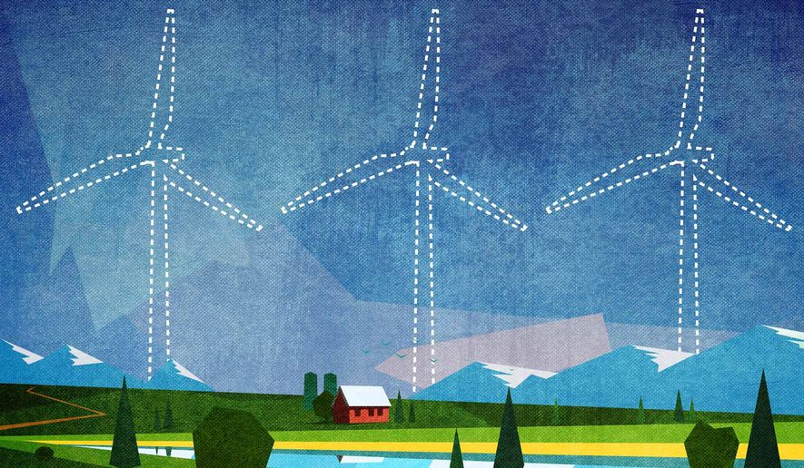 Beating the Government Bureaucracy on Wind Turbines Illustration by Greg Groesch/The Washington Times
