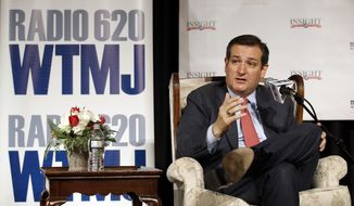Republican presidential candidate, Sen. Ted Cruz, R-Texas, speaks at a campaign stop Wednesday, March 23, 2016, in Pewaukee, Wis. (AP Photo/Morry Gash)