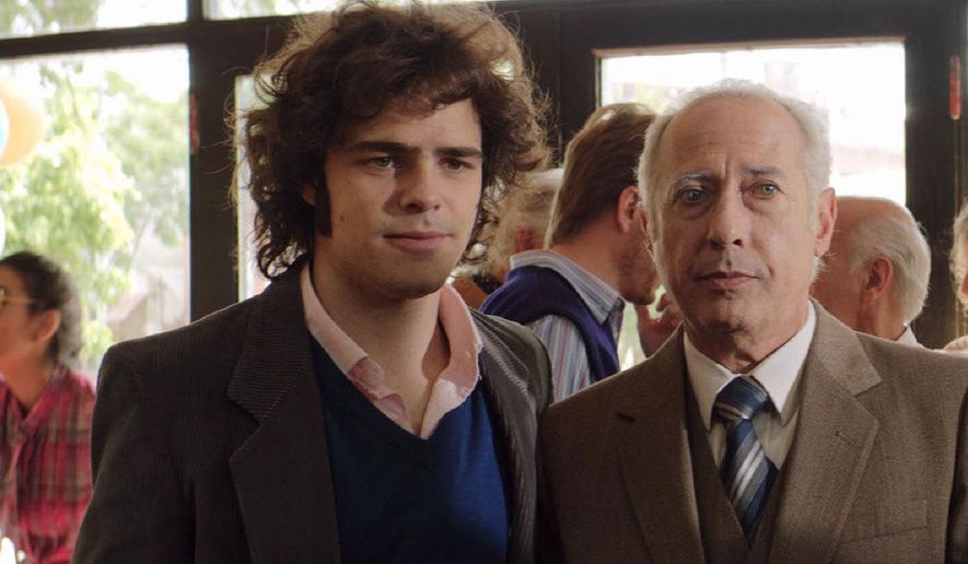 "Peter Lanzani (left) and Guillermo Francella in a scene from the Argentinian fact-based thriller ""The Clan.""   (miaminewtimes.com)"