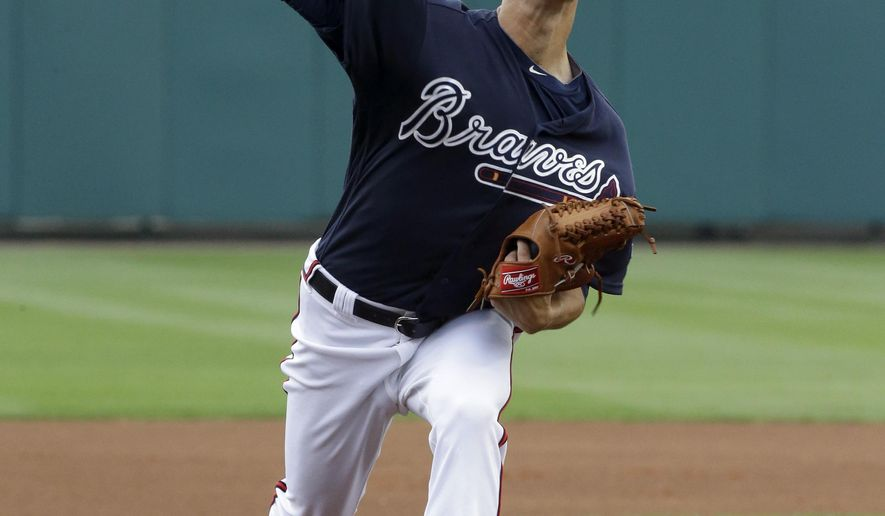 Atlanta Braves' Matt Wisler throws against the Philadelphia Phillies in the first inning of a spring training baseball game, Thursday, March 24, 2016, in Kissimmee, Fla. (AP Photo/John Raoux)
