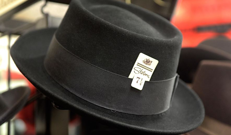 "A fedora reshaped into a porkpie style, such as this one, was selected as the lid for ""Breaking Bad"" TV character Walter White. (Dean Hanson/The Albuquerque Journal via AP)"
