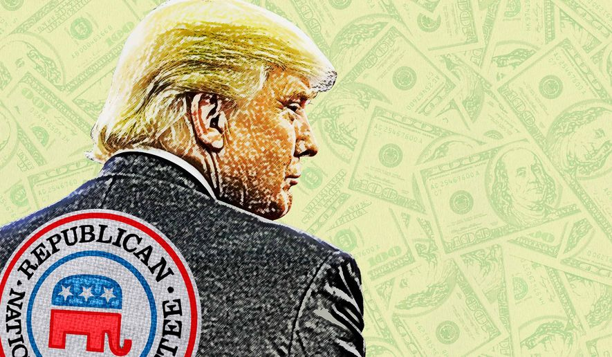 RNC has Trump's Back for Funding his Campaign Illustration by Greg Groesch/The Washington Times
