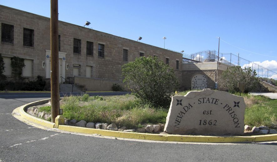 FILE - This June 4, 2015, file photo shows the shuttered Nevada State Prison in Carson City, Nev. The historic Nevada State Prison will open for tours. The Nevada Appeal reports that tours will start April 16, 2016, as a fundraiser for the Carson City Chamber of Commerce. (AP Photo/Michelle Rindels, File)
