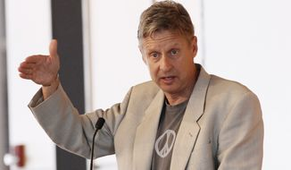Gary Johnson, a former two-term New Mexico governor and Libertarian White House hopeful. (Associated Press)
