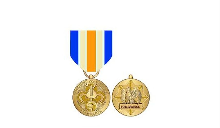 The Operation Inherent Resolve medal (Image: Department of Defense).
