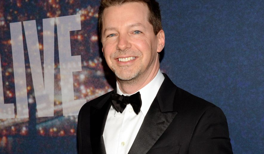 """FILE - In this Feb. 15, 2015 file photo, actor Sean Hayes attends the SNL 40th Anniversary Special in New York. Hayes will play God in a stage adaptation of the humor book """"The Last Testament: A Memoir by God"""" on Broadway. The play, called """"An Act of God,"""" will come to Broadway this summer. (Photo by Evan Agostini/Invision/AP, File)"""