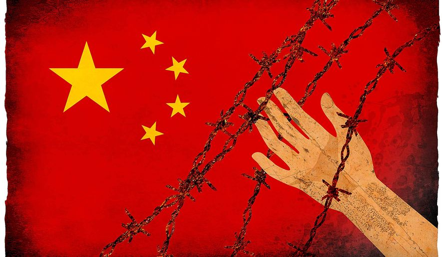 Concerns about China's Human Rights Problems Illustration by Greg Groesch/The Washington Times