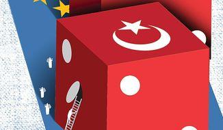 Erdogan's Turkey Gamble Illustration by Linas Garsys/The Washington Times