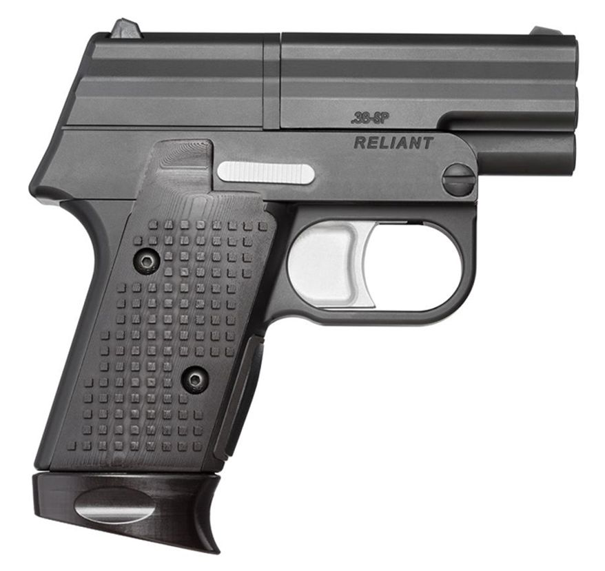 """The Reliant by Signal 9 Defense (formerly Edge Arms) is specifically designed for concealed carry, combining the reliability of a revolver with the profile of a 1911 pistol. The contoured grip is comfortable for all shooters it's small size makes it easy to conceal. The Reliant is ready the moment you put your finger on the double action trigger. With no external action, it can be fired from """"deep cover"""", from inside a jacket pocket or other concealment. Reliant's innovative design represents a true revolution in personal defense and is perfect for both a primary weapon or a backup gun for shooters of all experience levels"""