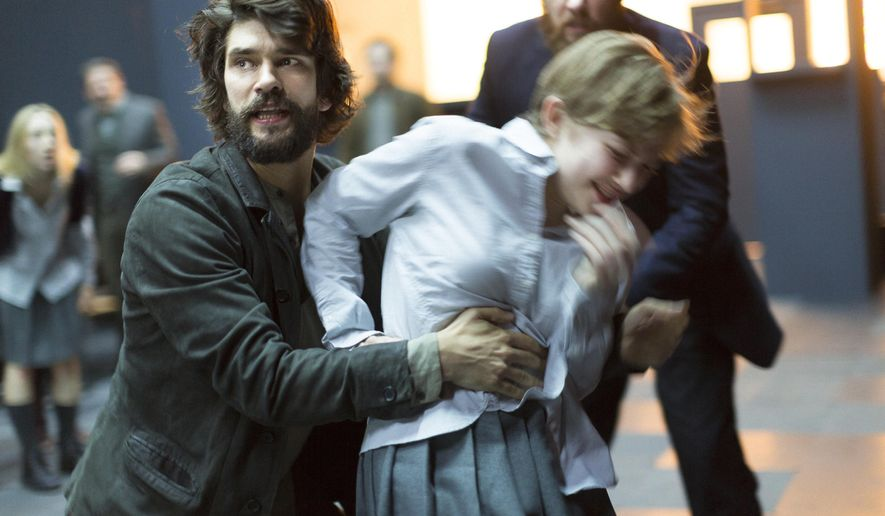 """This image released by Philip Rinaldi Publicity shows Ben Whishaw, left, and Tavi Gevinson during a performance of """"The Crucible,""""  at the Walter Kerr Theatre in New York.  (Jan Versweyveld/Philip Rinaldi Publicity via AP)"""