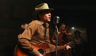 "This image released by Sony Pictures Classics shows Tom Hiddleston as Hank Williams in a scene from, ""I Saw The Light."" (Sam Emerson/Sony Pictures Classics via AP)"