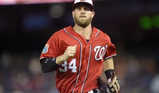 Washington Nationals right fielder Bryce Harper is coming off one of the best seasons in history for a 22 year old. (AP Photo/Nick Wass)