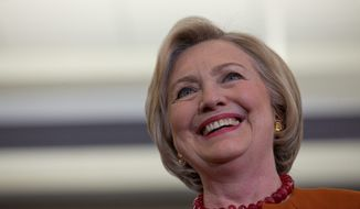 A more centrist Hillary Clinton could drive down Democratic turnout, dampen enthusiasm and hurt the Democratic Party's chances of recapturing control of Congress, said the powerful liberal PAC Democracy for America. (Associated Press)
