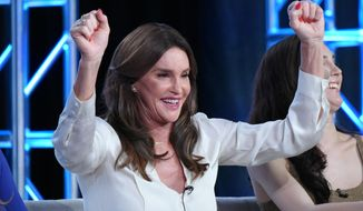 """In this Thursday, Jan. 14, 2016 file photo, Caitlyn Jenner participates in E!'s """"I Am Cait"""" panel at the NBCUniversal Winter TCA, in Pasadena, Calif. On Saturday, April 2, 2015, Jill Soloway, the creator and executive producer of """"Transparent,"""" said Jenner is joining the cast of the acclaimed Amazon streaming series. (Photo by Richard Shotwell/Invision/AP)"""