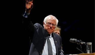 Sen. Bernard Sanders has repeatedly touted the fact that he does not have a major super PAC boosting his candidacy. He has made up for that in small contributions to his campaign, which announced in recent days that it raised $44 million in March. (Associated Press)