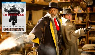 "Samuel L.  Jackson and Walton Goggins co-star in ""The Hateful Eight,"" now available on Blu-ray from Anchor Bay Entertainment."