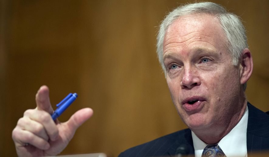 Sen. Ron Johnson, R-Wis., speaks on Capitol Hill in Washington, in this Feb. 2, 2016, file photo. (AP Photo/Cliff Owen, file)