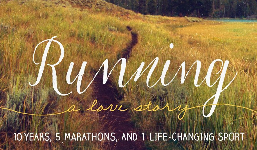 "This book cover image released by Seal Press shows ""Running: A Love Story: 10 Years, 5 Marathons, and 1 Life-Changing Sport,"" by Jen A. Miller. (Seal Press via AP)"