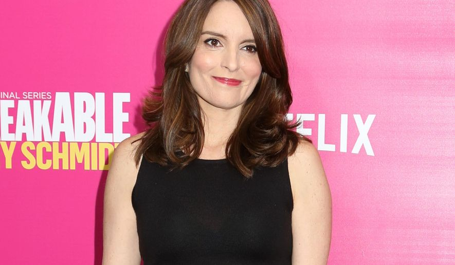 "FILE - In this March 30, 2016 file photo, Tina Fey attends the premiere of Netflix's ""Unbreakable Kimmy Schmidt"" Season 2 in New York. Fey's  book ""Bossypants"" has sold 3.75 million copies, according to Little, Brown and Company. (Photo by Greg Allen/Invision/AP, File)"