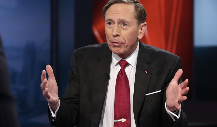 FILE - In this March 17, 2016 file photo, former CIA Director, retired Gen. David Petraeus speaks in New York. The U.S. judge who oversaw the now-abandoned lawsuit against the federal government over leaks in the investigation that led to the resignation  Petraeus is giving the Justice Department until Friday, April 8, 2016, to ask her to keep secret any court documents that were part of the case. (AP Photo/Richard Drew, File)