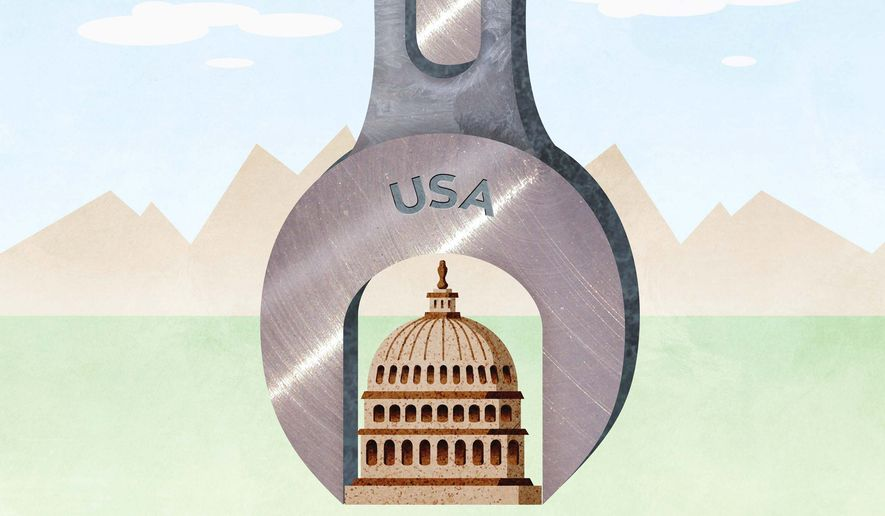 Putting the Wrench to Congress Illustration by Greg Groesch/The Washington Times