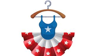 Election Day Dress Illustration by Greg Groesch/The Washington Times