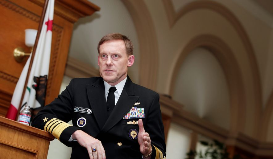 Cyber Command chief Adm. Mike Rogers said that unlike other areas of military competition, Russia is equal to the United States in terms its cyberwarfare capabilities, with China a close second. (Associated Press)