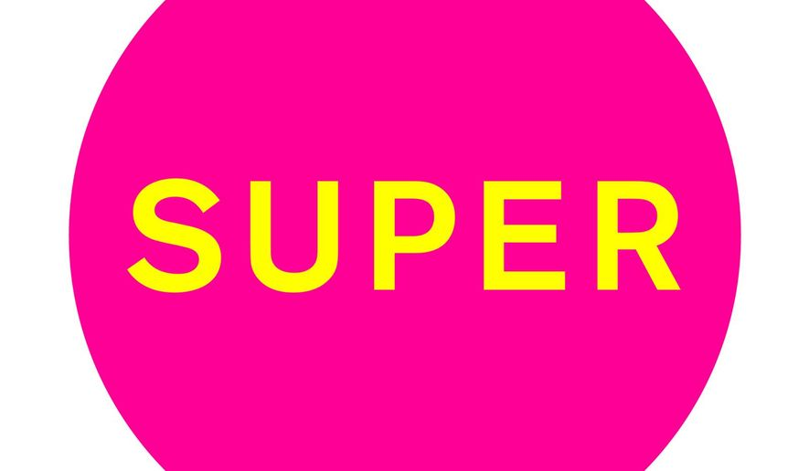"This CD cover image released by Remixes shows, ""Super,"" a release by the Pet Shop Boys. (Remixes via AP)"
