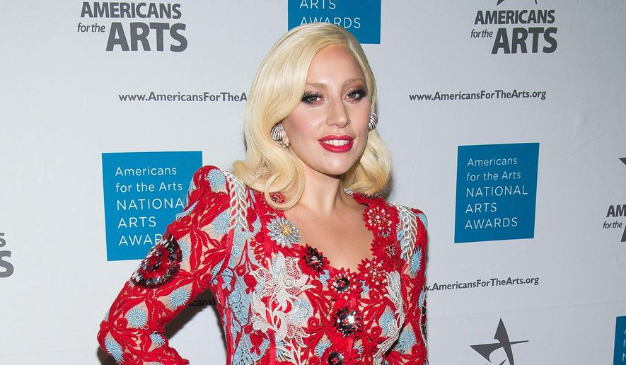 Lady Gaga attends the Americans for the Arts 2015 National Arts Awards in New York, in this Oct. 19, 2015, file photo. A piano owned by singer Lady Gaga will be auctioned at the Hard Rock Cafe New York on May 21, 2016. (Photo by Charles Sykes/Invision/AP, File)