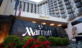 This April 20, 2011, file photo shows Portland Marriott Downtown Waterfront in Portland, Ore.  (AP Photo/Rick Bowmer) ** FILE **
