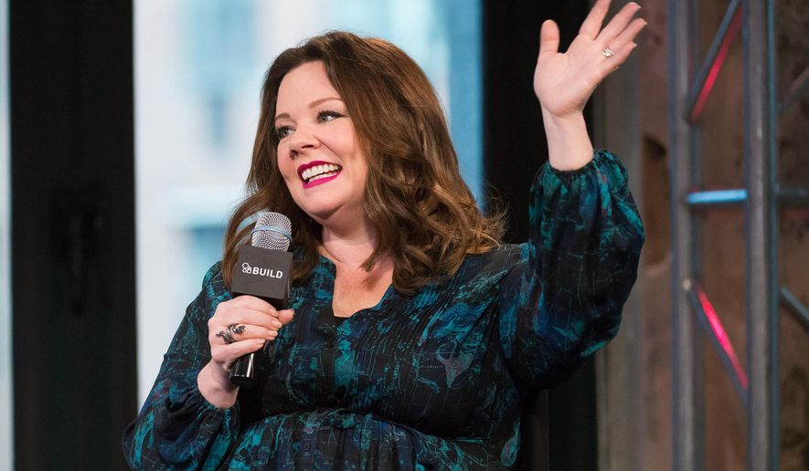 """Melissa McCarthy participates in AOL's BUILD speaker series to discuss her new film """"The Boss"""" at AOL Studios on Wednesday, April 6, 2016, in New York. (Photo by Charles Sykes/Invision/AP)"""
