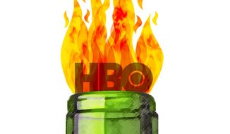 HBO Molotov Cocktail Illustration by Greg Groesch/The Washington Times
