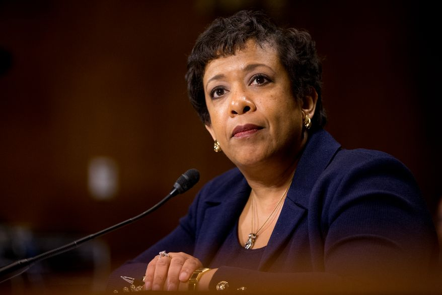 """Attorney General Loretta Lynch told the Senate Judiciary Committee that her department has discussed pursuing civil charges against the """"climate denial scheme,"""" as Sen. Sheldon Whitehouse, Rhode Island Democrat, put it. (Associated Press)"""