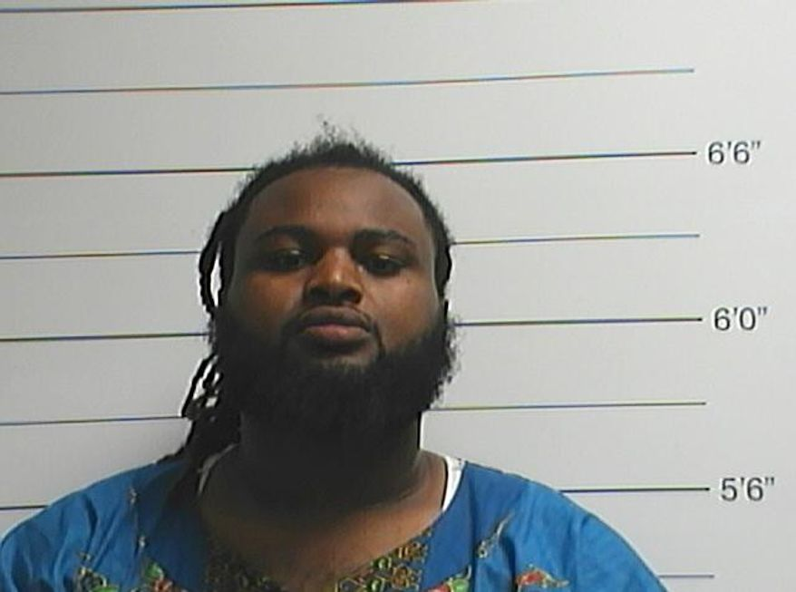 This Sunday, April 10, 2016, photo provided by the Orleans Parish Sheriff's Office shows Cardell Hayes. Police say Hayes has been charged with second-degree murder in the death of former New Orleans Saints defensive end Will Smith, who was shot and killed Saturday night. (Orleans Parish Sheriff's Office via AP)