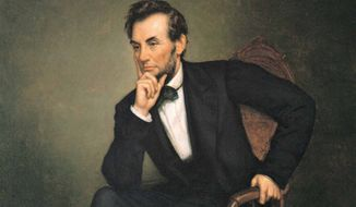 Abraham Lincoln (Associated Press photo of the painting by George P.A. Healy). ** FILE **