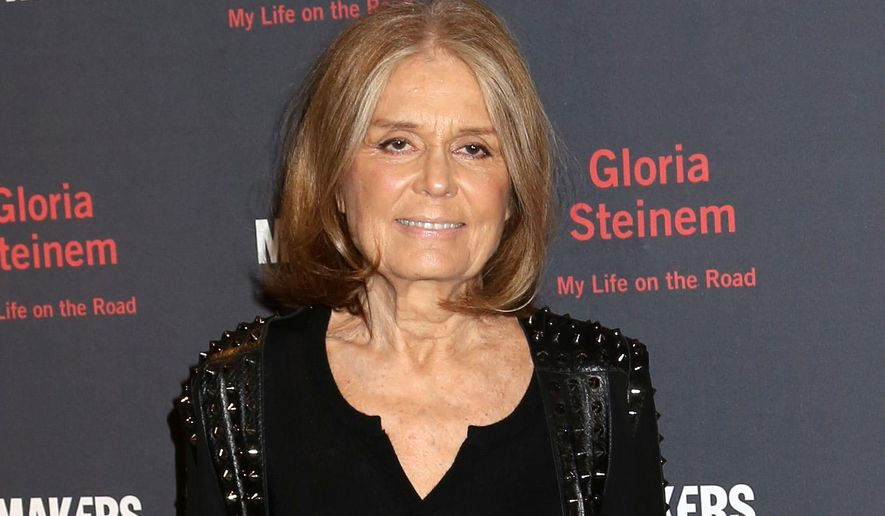 """In this Oct. 20, 2015 file photo, Gloria Steinem attends a party for her new book, """"My Life On The Road"""", in New York. (Photo by Greg Allen/Invision/AP, FIle)"""
