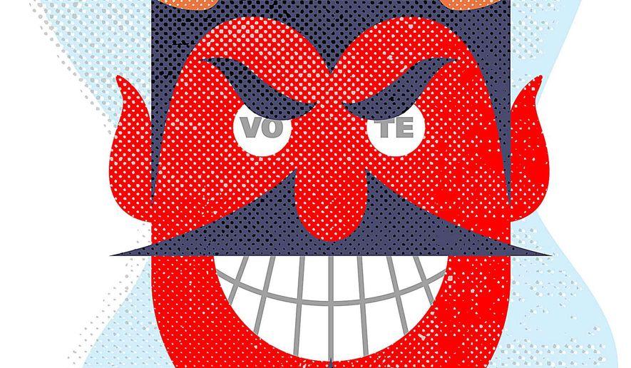 Devil's Ballot Box Illustration by Greg Groesch/The Washington Times