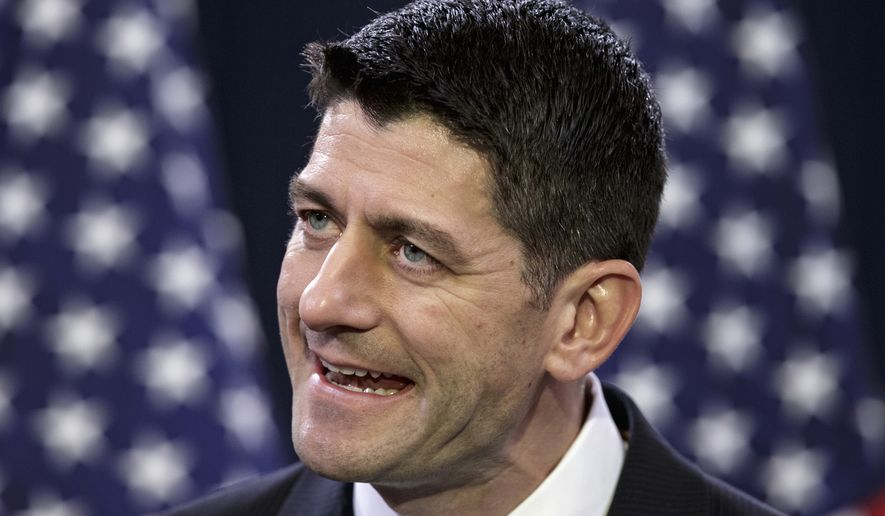 In this photo taken March 23, 2016, House Speaker Paul Ryan of Wis. speaks during a news conference on Capitol Hill in Washington. An aide to Ryan says the Wisconsin Republican will address reporters Tuesday, April 12, 2016, to formally rule out a run for president this year. (AP Photo/J. Scott Applewhite)