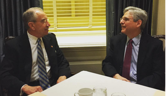Sen. Chuck Grassley posted this photo of his breakfast with Judge Merrick Garland on his official Instagram account.