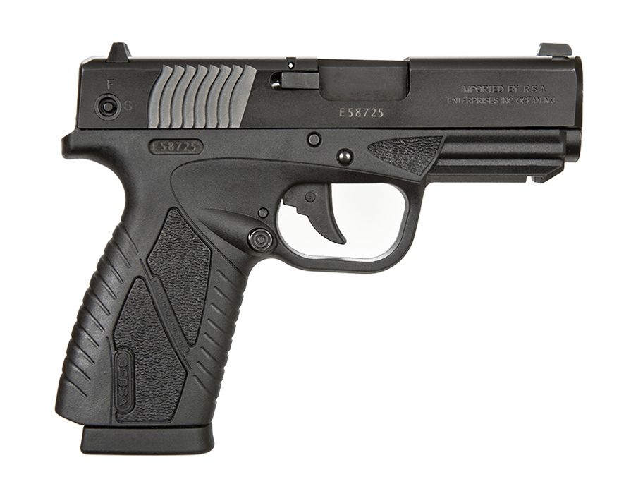 BERSA BPCC 380ACP provides accuracy and fire power in a lightweight, compact, ultra thin handgun. The BPCC is BERSA's first polymer frame handgun, with more advanced features, specially designed for concealed-carry personal protection. The BPCC provides accuracy and fire power in a lightweight, compact, ultra thin handgun. Using advanced manufacturing processes and finest quality materials, the BPCC reflects BERSA's commitment to value and performance. The BPCC's ergonomic design improves line-of-sight and provides greater control during use. The BPCC delivers the quality, reliability and durability you've come to expect from BERSA