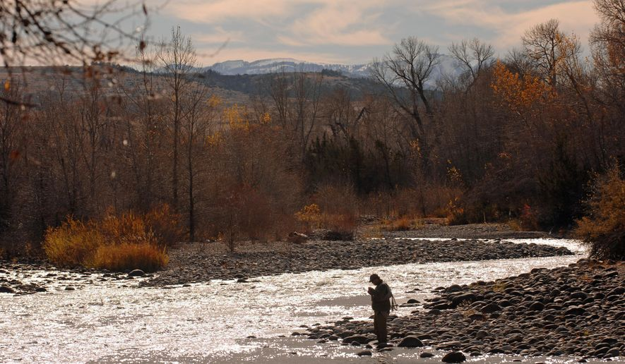 In this 2007 photo, Matt Wilhelm casts his fly into the waters of the Boulder River just south of Big Timber, Mont. Restrictions aren't needed along a stretch of the Boulder River near Big Timber, Montana fisheries officials said, despite residents' and anglers' protests that the river is being degraded by too many commercial floaters. Fish, Wildlife and Parks officials are recommending that the Montana Fish and Wildlife Commission on Thursday, April 14, 2016, reject a petition calling for a prohibition on commercial floating on certain days of the week and when the water drops below a particular level. (David Grubbs/The Billings Gazette via AP) MANDATORY CREDIT