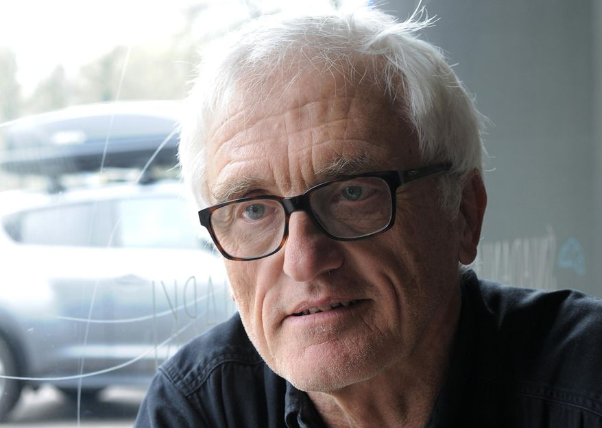 Princeton professor Jan Tomasz Gross speaks to The Associated Press in Warsaw, Poland, Wednesday, April 13, 2016. A Polish prosecutor has questioned Gross to try to determine if he committed the crime of publicly insulting the Polish nation with a statement on Polish violence against Jews during World War II. (AP Photo/Alik Keplicz)